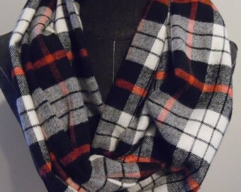 Fall Flannel Infinty Scarves.Winter Flannels.Plaids.Scarf.Scarves.Christmas Gift.Circle Scarves.Tube Scarves.