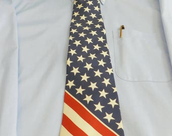 Vintage Tommy Hilfiger Red White and Blue Patriotic Novelty Necktie, American Flag, Patriotic, USA Neckwear, Independence Day, Veterans Day
