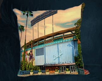 Dodgers Stadium, PILLOW, World Series, Los Angeles Dodgers, Guy Gift, Man Cave, Baseball Stadium, LA Dodgers, Ballpark, Boyfriend Gift