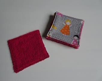 girls pink set of 5 wipes