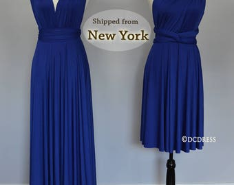 Royal Blue Bridesmaid dress, infinity dress, convertible dress, maternity gown, prom dress, multiway dress, party dress