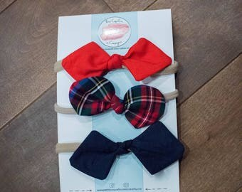 Set of 3 headbands knotted your choice