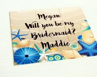 Will you be my Bridesmaid,Bridesmaid puzzle,Proposal Bridesmaid,Personalized bridesmaid gift,Ask bridesmaid,Will You Be my Junior Bridesmaid