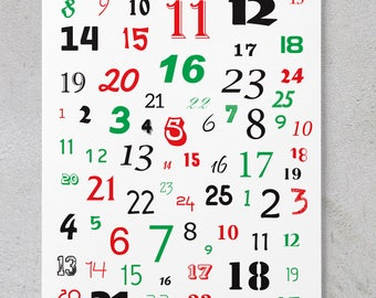 Numbers - Scrapbooking/Christmas Quote Sheet **DIGITAL DOWNLOAD**