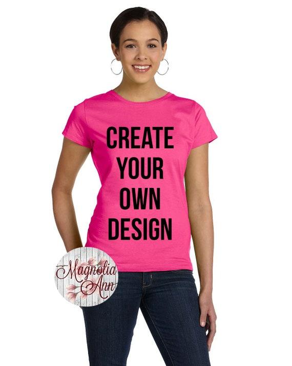 Custom Women's Jersey Crew Neck T Shirt, Sizes Small-3X, Plus Size Clothing, Custom Women Shirts, Personalized Shirt, Custom Shirt for Women