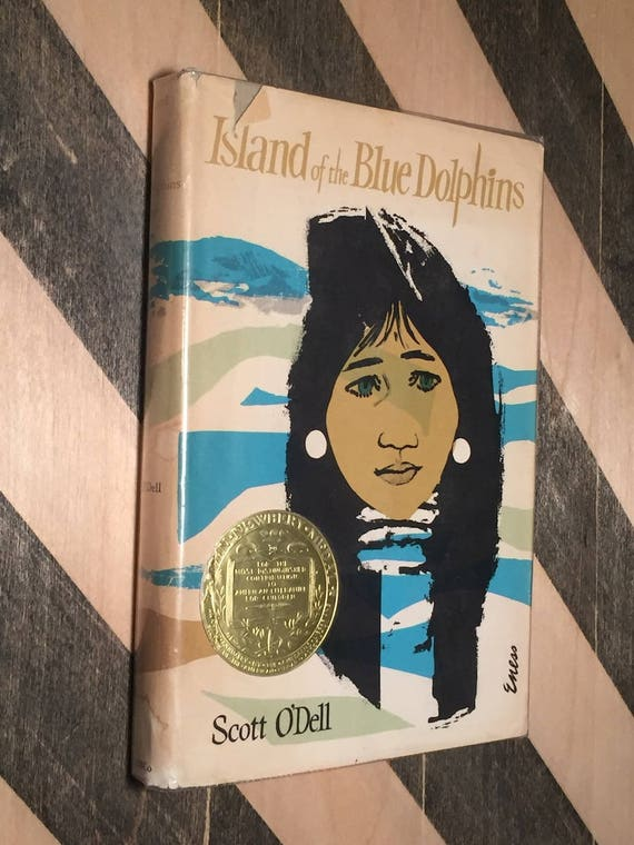 Island of the Blue Dolphins by Scott O'Dell (hardcover book)