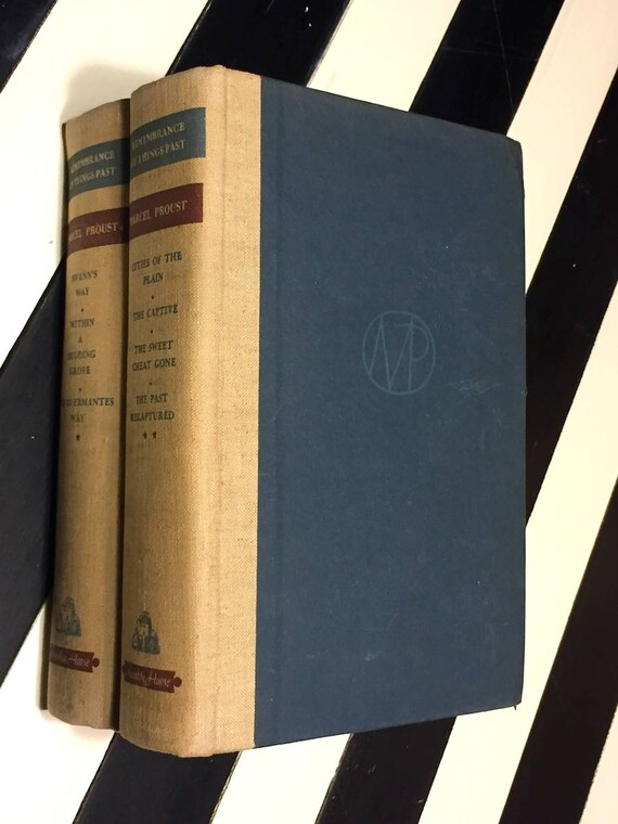 Remembrance of Things Past by Marcel Proust (1934) hardcover book in two volumes
