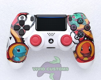 Custom PS4 Controller - Sony PlayStation 4 Pro/Slim Version 2 Dualshock Wireless Pad - Pokemon Mod V2