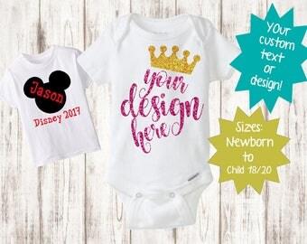 Custom Shirt, Baby Onesie, Custom Toddler Shirt, Custom Boys Shirt, Custom Girls Shirt, Baby Girl Clothes, Baby Boy Clothes Baby Shirt, TShi