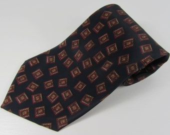 Vintage C&A Abstract Square Design TIE, Gifts for Him, Gifts for Husband, Wedding, Christening, Birthday, Father's Day, Christmas