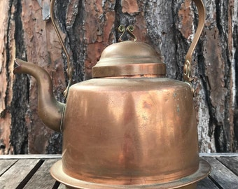 Vintage Skultuna 1607 Copper Tea Kettle