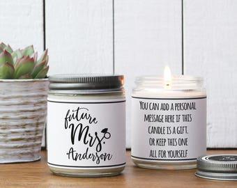 Future Mrs Candle - Personalized Engagement Gift | Personalized Engagement Card | Unique Engagement Gift | Engagement Gift for Friend