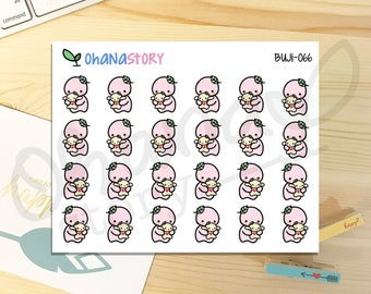 BUJI-066   Holding Baby   Hand-drawn Planner Stickers