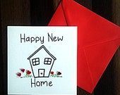 New Home Card - Quilled Hearts - New Home Greeting Card - Housewarming Card - Moving Home Card - Happy New Home - Hearts for Home Card