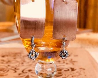 Fun dangly copper drop earrings!
