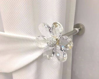 Tieback Swarovski Crystal Curtain ambrass accessories for curtains drapery gather curtains curtain window curtain rod made in Italy