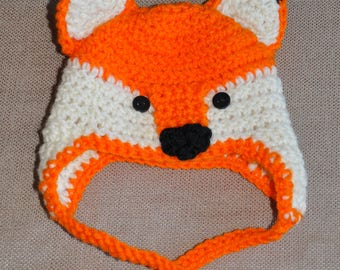 Fox hat for Infants - Great baby shower gift!