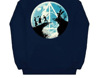 Harry Potter THREE BROTHERS FAIRYTALE Hoodie Wizard Hooded Sweatshirt Voldemort Snape Dumbledore