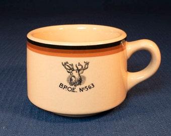 BPOE Elks Lodge No. 563 Boone Iowa Circa 1950 Restaurant Ware Coffee Cup Inca Ware by Shenango China