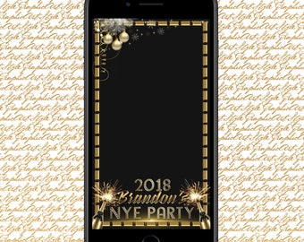 NYE Bash Filter New Years Eve Geofilter New Years Eve Snapchat Custom New Years 2018 NYE Bash 2018 Filter Holiday Party Filter NYE 2018 Gift