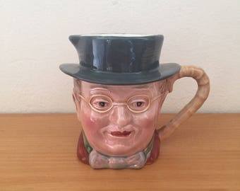 Vintage Beswick Ware Mr. Pickwick Toby Jug Creamer from 1960s
