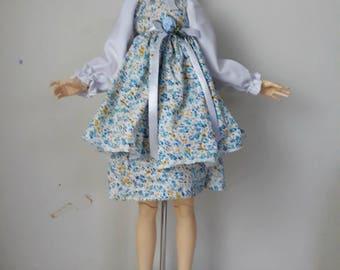 "SD ""Periwinkle Roses"" Dress Set"