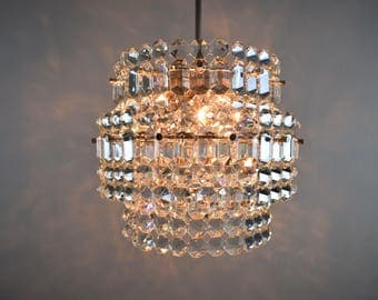 Vintage chandelier - Mid-century crystal chandelier : etsy lighting - azcodes.com
