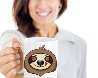 Cute Sloth Mug / Sloth Lover / Sloth Mug for Her / Sloth Gifts / Sloth Face / Sloth Gifts Women / Sloth Gift / Sloth Mug / Cool Sloth