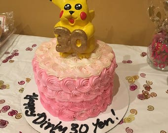 Pikachu Cake Topper/ Clay Figurine