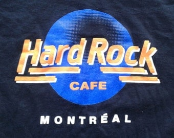 Vintage 80's / 90's Hard Rock Cafe Montreal t-shirt Made in Canada by Fruit of the Loom Medium