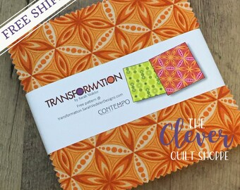 "Transformation by Sarah Vedeler for Contempo / Benartex Charm Pack Precut Quilting Fabric - 5"" Squares 42pcs"