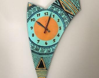 Mesmerizing Hand Painted Clock