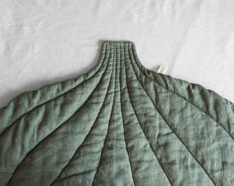 Leinen Blatt Decke Leinen Matte Boden Matte Leinen Bettbezug Bettwäsche  Kissen Gesteppte Decke Kinderzimmer Bodenmatte Gepolstert