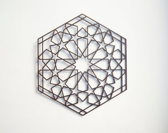 Wooden Mandala / 30 cm / home decor / Inspired by Mosque in Morocco / made of wood