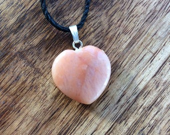 Peach Quartz Crystal Necklace