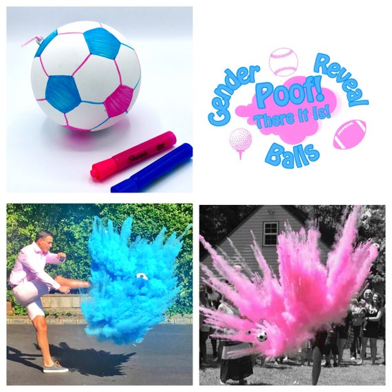 CUSTOM SOCCER BALL Gender Reveal Ball Pack (White Ball that can be Customized)