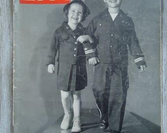 Vintage magazine 1943 - Vintage Child photos - Vintage advertising - Vintage Ads - Paper Ephemera - Child decor - Vintage children, Old ads