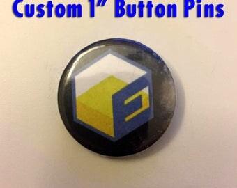 """Custom 1"""" Button Pins"""
