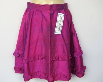 Yves Saint Laurent YSL Paris Vintage silk skirt - fuschia - XS