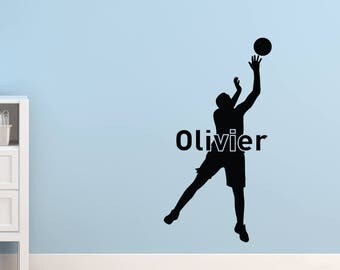 Wall sticker | Silhouette basketball player
