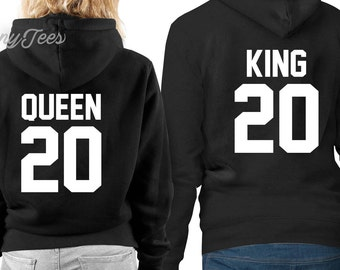 King and queen hoodie king and queen sweatshirts king and queen hoodies king and queen sweaters couples hoodies couples outfits king queen