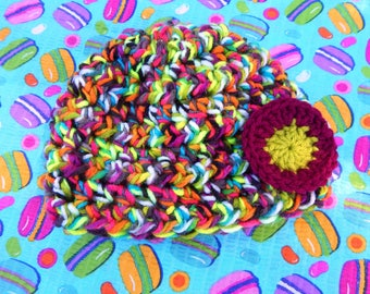 Modern Flower Baby Hat / Size 12 mos. / READY TO SHIP / Item #MFB02