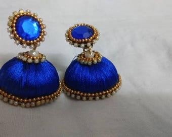 Threaded earrings
