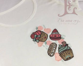 Sweet Treats Embroidered Kids T-Shirt