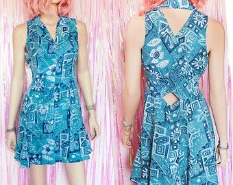 90s FIT & FLARE CUTOUT Dress, Grunge dress, 90s dress, 90s grunge 90s clothing, 90s grunge dress