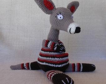 Kangourou au crochet, Jumpou l'aventurier, doudou naissance
