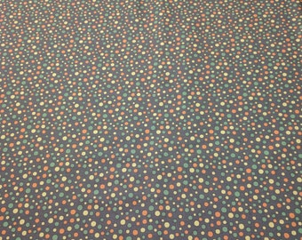 Perfectly Seasoned-Orange, Yellow, and Green Dots on Brown Cotton Fabric Designed by Sandy Gervais for Moda Fabrics