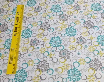 Arctic Antics-Snowflakes and Circles Cotton Flannel Fabric from Wilmington Prints