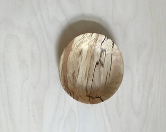 hand carved spalted sycamore wood bowl