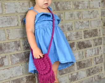 Toddler Bag, Toddler Purse, Boho Toddler Bag, Boho Bag, Boho Purse, Baby Purse, Little Boho Purse, Crossbody Bag, Toddler Crossbody Bag